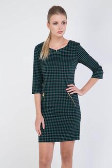 Платье в клетку с карманами на молнии Marimay