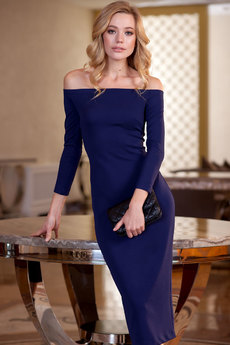 Облегающее платье с открытыми плечами RUXARA