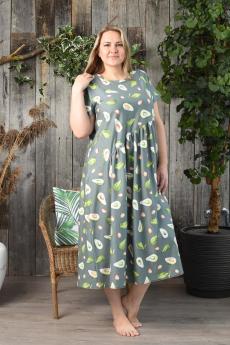 Длинное платье с авокадо Натали