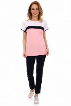 Розовая хлопковая футболка Кетлен