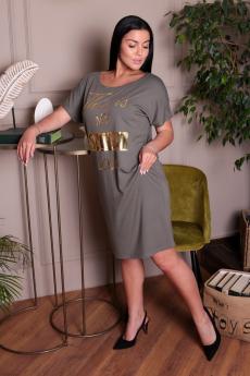 Свободное платье цвета хаки ElenaTex